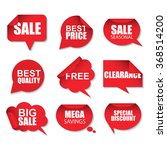 set of red sale realistic... | Shutterstock .eps vector #368514200