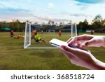 man use mobile  blur image of... | Shutterstock . vector #368518724