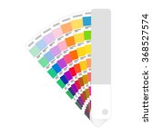 palette with color  print  on a ... | Shutterstock .eps vector #368527574