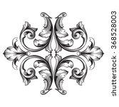 vintage baroque frame scroll... | Shutterstock .eps vector #368528003