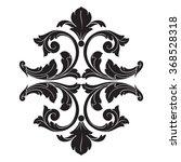 vintage baroque frame scroll... | Shutterstock .eps vector #368528318