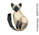 low poly  cat. triangle... | Shutterstock .eps vector #368531210