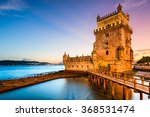 lisbon  portugal at belem tower ... | Shutterstock . vector #368531474