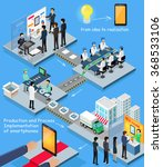smartphone production process... | Shutterstock .eps vector #368533106