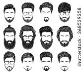 a set of mens hairstyles ... | Shutterstock . vector #368539358