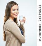 water glass. beautiful girl... | Shutterstock . vector #368540186