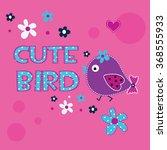 cute bird with flower vector...   Shutterstock .eps vector #368555933
