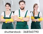 professional cleaning team in... | Shutterstock . vector #368560790