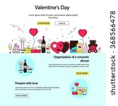valentines day posters and...   Shutterstock .eps vector #368566478