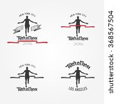 set of marathon logotypes  long ... | Shutterstock .eps vector #368567504