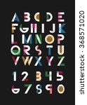 color alphabetic fonts and... | Shutterstock .eps vector #368571020