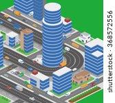 modern city and various...   Shutterstock .eps vector #368572556