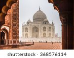 agra  india   jan 21  2016  taj ... | Shutterstock . vector #368576114