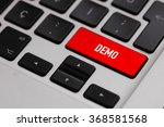 black keyboard with red demo... | Shutterstock . vector #368581568