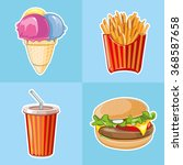fast food icon set  burger ... | Shutterstock . vector #368587658