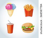 fast food icon set  burger ... | Shutterstock . vector #368587784