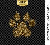 gold glitter vector icon of... | Shutterstock .eps vector #368594354