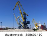 cargo ship on loading in sea... | Shutterstock . vector #368601410