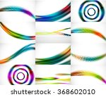 abstract background set ... | Shutterstock .eps vector #368602010