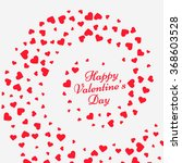 hearts swirl valentine... | Shutterstock .eps vector #368603528