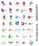 mega set of paper logo abstract ... | Shutterstock .eps vector #368603594