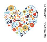cute vintage heart shape with... | Shutterstock .eps vector #368603744