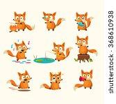 fox activities with different... | Shutterstock .eps vector #368610938