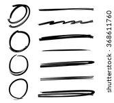 grunge vector frames  hand... | Shutterstock .eps vector #368611760