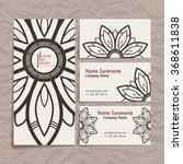 set of vector design templates. ... | Shutterstock .eps vector #368611838