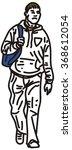 friendly boy on the street. | Shutterstock .eps vector #368612054