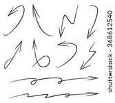 vector hand drawn arrows ... | Shutterstock .eps vector #368612540