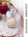 glazed cookies on valentine's...   Shutterstock . vector #368614319