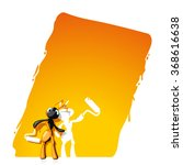 not noticed ant and painted it... | Shutterstock . vector #368616638