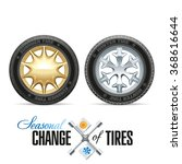 wheels and tires for a given... | Shutterstock . vector #368616644