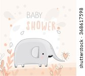 Baby Shower Illustration With...