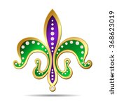 golden  purple and green fleur... | Shutterstock .eps vector #368623019