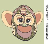 monkey  vector graphics 2. with ... | Shutterstock .eps vector #368625938
