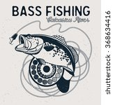 Vintage Bass Fishing Emblem ...