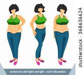 female obesity. the woman... | Shutterstock .eps vector #368636624
