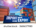 containers shipping  container... | Shutterstock . vector #368637980