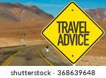 travel advice sign on desert... | Shutterstock . vector #368639648
