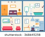 set of bright furniture icons | Shutterstock .eps vector #368645258