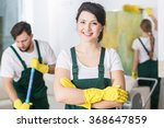 smiling cleaning lady in...   Shutterstock . vector #368647859