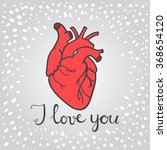 happy valentine's day card with ...   Shutterstock .eps vector #368654120