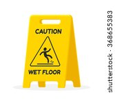 wet floor sign. isolated flat... | Shutterstock .eps vector #368655383