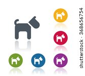 dog icon | Shutterstock .eps vector #368656754