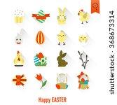 celebration easter icons | Shutterstock .eps vector #368673314