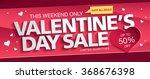 valentine's day sale banner | Shutterstock .eps vector #368676398