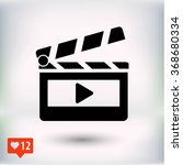 clapper board  icon. one of set ... | Shutterstock .eps vector #368680334