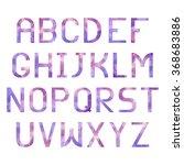 latin alphabet with triangular... | Shutterstock . vector #368683886